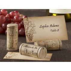 I COULD MAKE THESE!   Kate Aspen Wine Cork Table Place Holder - Set of 12