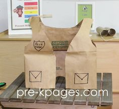DIY Paper Bag Park Ranger Vest for dramatic play