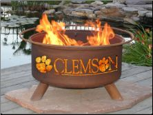 GOOOOOO Tigers!  Awesome firepit!  Maybe Preston would let us get Clemson on one side and Vols on the other????