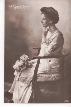 Vintage Postcard Princess Theresa of Liechtenstein Princess Arnulf of Bavaria   eBay