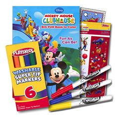 Mickey Mouse Coloring Book with Stickers and Markers  96 Page Coloring Book Mickey Mouse Stickers Assortment Washable Markers  Bonus Sticker * You can get more details by clicking on the image-affiliate link.