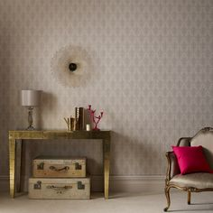 Ritzy Damask Wallpaper - Designer Gold Wall Coverings by Graham  Brown