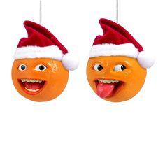 Kurt Adler 2.5-Inch Annoying Orange Ornament Set of 2