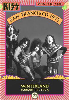 KISS 1975 Winterland Ballroom Hotter Than Hell Era Stand-Up Display