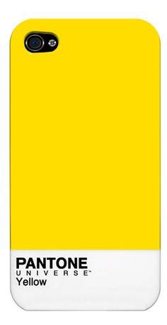 Pantone Yellow iPhone case