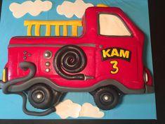 Fire Truck 2D Cake Design.