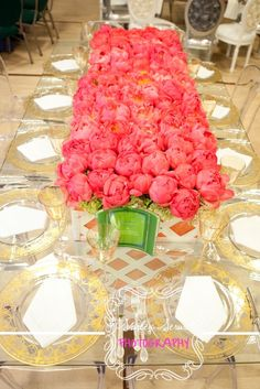 Beautiful floral centerpiece of Peonies!