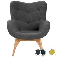 Doris Accent Chair, Shetland Slate from Made.com. Grey. Beautiful shades and button detailing take the Doris design to the next level. It's simple, ..