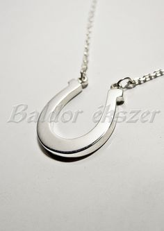 Silver necklace with horseshoe by BaldorJewelry on Etsy Silver Horse, Sterling Silver Chains, Bracelets, Etsy, Jewelry, Bangles, Jewlery, Jewels, Bracelet