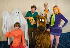 Scooby-Doo Costumes | Top 16 Group Halloween Costumes For You And Your Squad at http://youresopretty.com/group-halloween-costumes/
