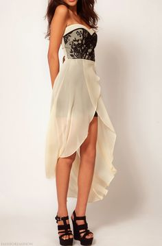 Buy TFNC Dress with Lace Bodice and Hi Lo Skirt at ASOS. With free delivery and return options (Ts&Cs apply), online shopping has never been so easy. Get the latest trends with ASOS now. Dress Skirt, Lace Dress, Lace Bodice, Tulip Skirt, Chiffon Dress, Corsage, Fasion, Fashion Outfits, Skirt Fashion