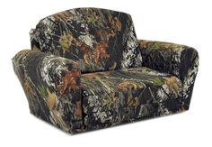 Mossy Oak Sleepover Sofa, Camouflage, Kids Flip Open Sofa, by Kidzworld - Kid's Flip Open Sleepover Sofas