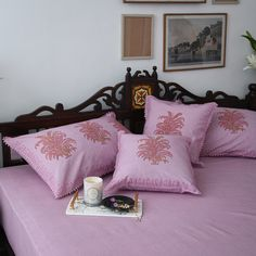 Bed Linens, Linen Bedding, Vibrant Colors, Colours, White Sheets, Bed Sheets, Pillow Covers, Cotton Fabric, Cushions