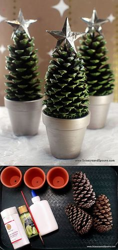 Christmas trees from the cones