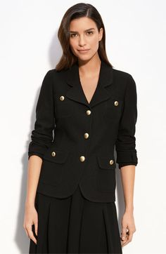 What every designer needs - a St. John Knit Blazer in Black. How classy!