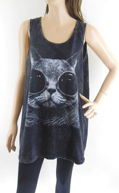 Hey, I found this really awesome Etsy listing at http://www.etsy.com/listing/154076966/cat-glasses-shirt-cat-shirt-cat-tank-top