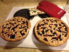 "Triple Berry Pie and crust instructions. I saw this and said ""wow""."