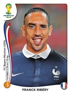 Franck Ribery of France. 2014 World Cup Finals card. Soccer Fifa, Top Soccer, Football Icon, World Football, Football Stickers, Football Cards, World Cup 2014, Fifa World Cup, Steven Gerrard