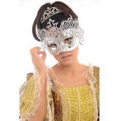 An exquisitely designed Halloween, masquerade party mask! Unique Design Crown Venetian Christmas Half Face Mask   DealQuarry