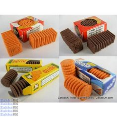 Kawaii 40pcs Mini Box (Square and Round) Biscuit Cookie Erasers Wholesales Novelty Rubbers Erasers Kawaii Stationery Wholesales