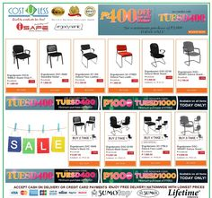 Guest Chairs are On Sale @ Lazada Shop Online - TUESD PROMO! Valid Today Only! Save 400.00 for a Minimum Purchase of 3,00.00 - Use Voucher Code:TUESD400 Save 1,000.00 for a Minimum Purchase of 7,000.00 - Use Voucher Code:TUESD1000 Free Delivery Anywhere in the Philippines! Credit Card Accepted & Cash On Delivery! http://www.lazada.com.ph/catalog/?q=guest+chairs