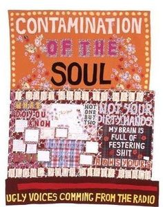 Contamination of the Soul ( 2008 ) by Tracey Emin: the ever-contraversial British artist Tracey Emin Art, Textiles, Political Art, Political Events, Feminist Art, Feminist Quotes, English Artists, A Level Art, Gcse Art