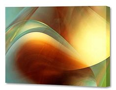 "[+2] Menaul Fine Art ""Velvet Petals"" Limited Edition Artwork, 45 x 30"", Green/Red/Orange/Yellow/Gold/Brown"