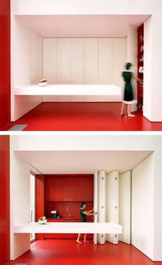 folding kitchen | Folding Kitchen Design Overcoming The Narrow Kitchen with Folding ...