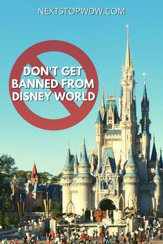 Did you know that you can get banned from Disney World if you break the property rules? Find out more in our guide to the rules at WDW. Disney World Guide, Disney World Packing, Disney Travel Agents, Disney World Secrets, Disney World Vacation Planning, Disney World Parks, Disney Planning, Disney World Tips And Tricks, Disney World Resorts