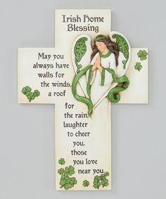 Look at this #zulilyfind! Irish Blessing Angel Cross #zulilyfinds