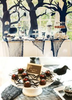 Elegant Spooky Forest Halloween Party
