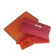 Hermes Wallet H009 Red Hermes Wallet, Hermes Box, Hermes Paris, Hermes Handbags, Purse Wallet, Pouch, Leather Purses, Leather Wallet, Wallets For Women Leather