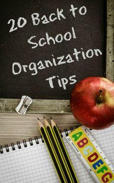 20 Back to School Organization Tips