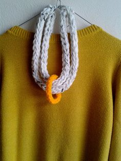 set of chunky crocheted necklace with beige by MerakibyStevie, €18.00