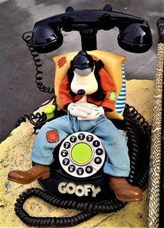 vintage Telemania Walt Disney Goofy animated telephone talking corded sleeping #Telemania Ebay Auction, Telephone, Walt Disney, Sleep, Animation, Vintage, Phone, Vintage Comics, Anime