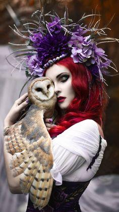Gothic and Amazing: Photo Fantasy Photography, Animal Photography, Magical Creatures, Beautiful Creatures, Fantasy Women, Fantasy Art, Beautiful Birds, Animals Beautiful, Fairytale Art