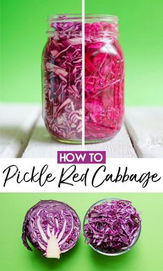 Breaking down the basics of how to add delicious and tangy crunch to your healthy recipes with this guide to easy Pickled Red Cabbage! The perfect homemade condiment for taco night, salads, grain bowls, or sandwiches. Source by live_eat_learn Fermentation Recipes, Canning Recipes, Gourmet Recipes, Vegetarian Recipes, Vegan Vegetarian, Vegetarian Sandwiches, Canning Tips, Homemade Salsa Recipes, Going Vegetarian