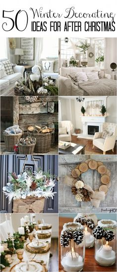 50 Winter Decorating Ideas Christmas is over! How do you transition to cozy winter decor that won't make you feel blue? Here's a collection of winter decorating ideas to make your home feel warm and inviting post-holiday. After Christmas, Christmas Home, Christmas Crafts, Christmas Lights, Christmas Ideas, Christmas 2019, Christmas History, Christmas Sewing, Christmas Vacation