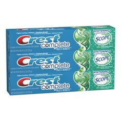 Crest Complete Whitening Plus Scope Toothpaste - Minty Fresh, Net Wt. 6.2 oz(175 g) (Pack of 3), 2016 Amazon Top Rated Oral Care  #Health-Personal-Care