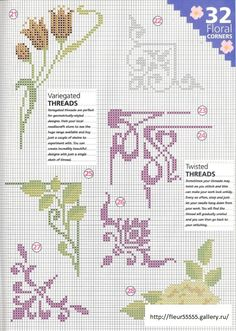 Gallery.ru / Фото #39 - 2 - Fleur55555 Cross stitch pattern floral abstract flourish corner designs border