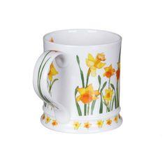 Dunoon Garden Flowers Daffodils Iona Shape Mug   Temptation Gifts