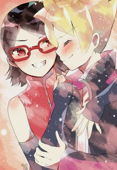 Boruto And Sarada, Naruto Comic, Naruto Shippuden Anime, Hinata, Anime Neko, Anime Manga, Couple Naruto, Mago Anime, Naruto Shippuden Characters