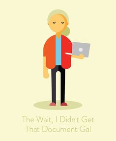 annoying call Illustration humor the wait i didnt get that document gal
