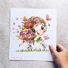 No photo description available. Baby Illustration, Watercolor Illustration, Watercolor Paintings, Illustrations, Baby Drawing, Painting & Drawing, Doodle Drawings, Cute Drawings, Disney Paintings