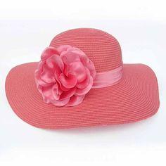 Coral Red Summer Floppy Dress Derby Sun Hats For Women SKU 158120