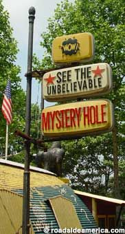 Seeing is Believing.... A zany place where gravity is defied... and of course Miss New River Gorgeous is an added treat!!