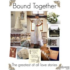 """Bound Together"" a cute book-themed wedding idea"