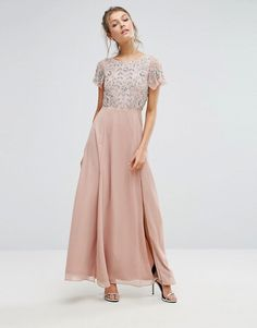 Frock and Frill | Frock & Frill Sequin Bodice Maxi Dress With Flutter Sleeve