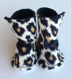 Baby Girl Boots Toddler Infant Fleece Warm Booties by Sunjunki, $25.00