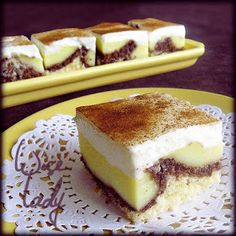 Best Hobbies For Couples Hungarian Desserts, Hungarian Cake, Hungarian Recipes, Cold Desserts, Cookie Desserts, No Bake Desserts, Just Desserts, Sweet Cookies, Arabic Food